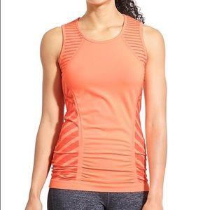 Athleta Neon Orange Ruched Tank